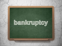 Law concept: Bankruptcy on chalkboard background