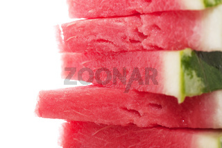 Stack of watermelon`s slices