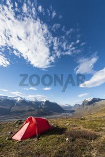 Blick ins Rapadalen, Lappland