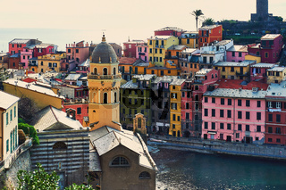 Ancient architecture of Vernazza. Italy