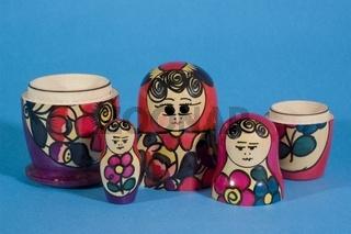 Matroschka Puppe, traditionelle russische Holzpuppe