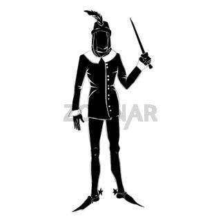 gothic costume man silhouette