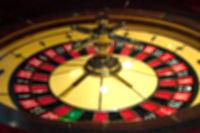 Blur focus in casino. The dynamic roulette in casino.