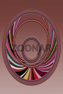 Abstrakt gebogene farbige Streifen