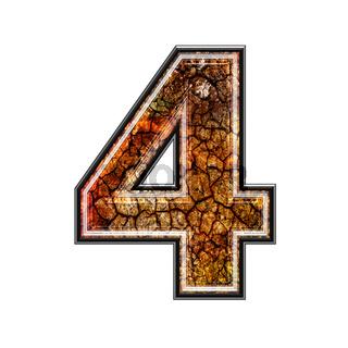 3d digit with grunge texture - 4