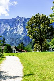 Idyllic landscape of Ramsau in Bavaria