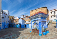 Public fountain in medina of Chefchaouen