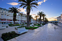 City of Split Riva waterfront sunrise view