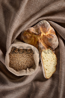 Bread on a sackcloth
