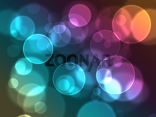 abstract glowing shapes on a colorful background