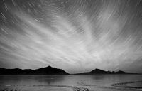 Bonneville Salt Flats Graham Peak Night Sky Mountain Range