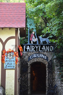 Fairyland Caverns at Rock City Gardens at Lookout Mountain in Chattanooga, Tennessee