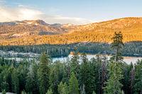 Sunset at Silver Lake, California