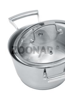 Modern steel saucepan