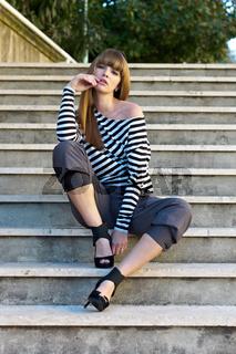 Fashion on stairs - Mode auf  der Treppe
