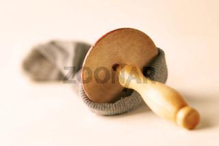 Socken mit Loch - sock with hole