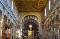 Interior of church. Rome , Italy