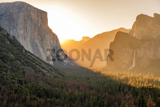 Yosemite National Park Valley at sunrise