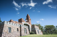 Pittamiglio Hall, the Art Deco version of a Middle Ages castle, Las Flores, Maldonado province, Uruguay