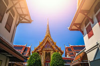 Rooftops of the Buddhist temple in Bangkok