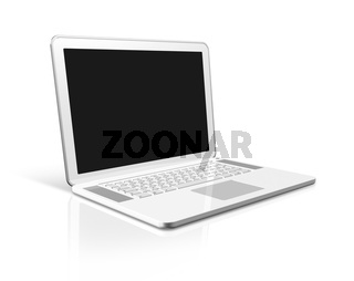 white Laptop computer isolated on white