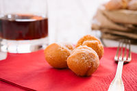 Castagnole typical Italian carnival sweet
