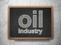 Industry concept: Oil Industry on chalkboard background