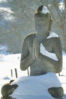 Schnee und Kälte Buddha