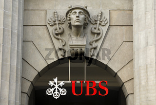 Sitz der Bank UBS, Münzhof, Zürich