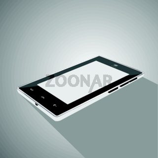 Smart phone icon on a gray background isolation.