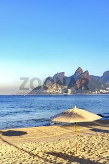 Ipanema beach at morning