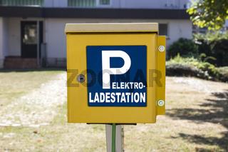 Ladestation einer Elektotankstelle