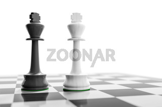 two kings on a chess board