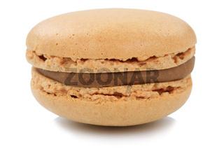 Kaffee Macaron Macaroon Keks Nachtisch Dessert aus Frankreich Freisteller