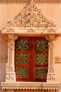 Temple window of BAPS Shri Swaminarayan Mandir Pune