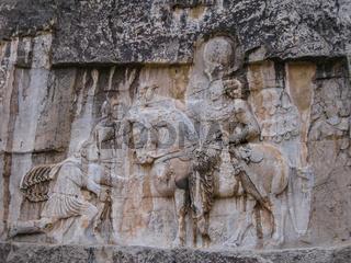 Triumph Shapur over emperors Naqsh-e Rustam, Persepolis ruin, Iran