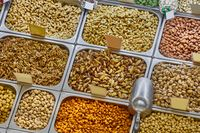 Nuts and seeds in a shop