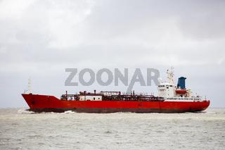 Tanker auf der Nordsee