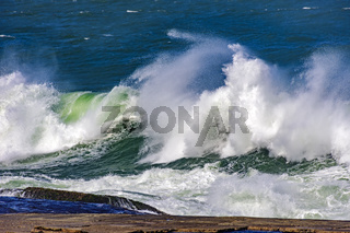 Stormy green wave