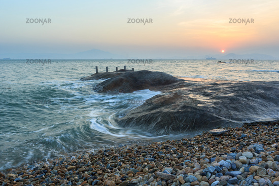 Xiamen Huandao Road Seascape Sunset