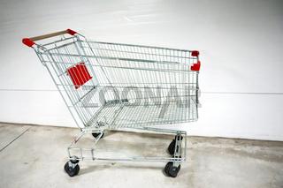 Empty shopping cart- trolley