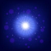 Light effect on blue background
