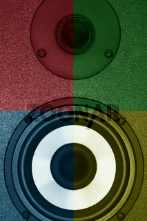 Colour acoustic systems