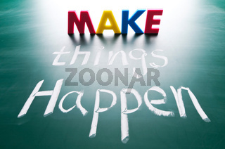Make things happen, concept words