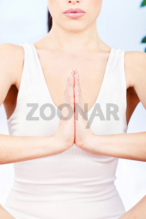 Woman's hand in a spritual position