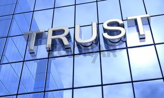 Spiegelfassade Blau - Trust Konzept