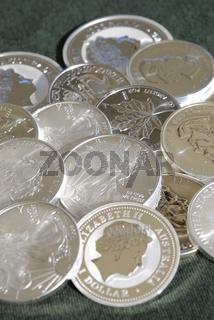 Silber, Silbermuenzen, Silberinvestment