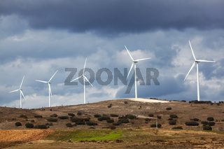 Wind generators in Burgos province