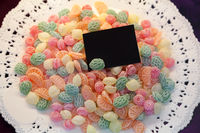 Candy background on the plate