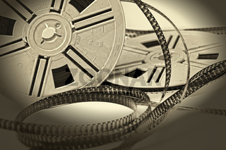 aged vintage 8mm film movie